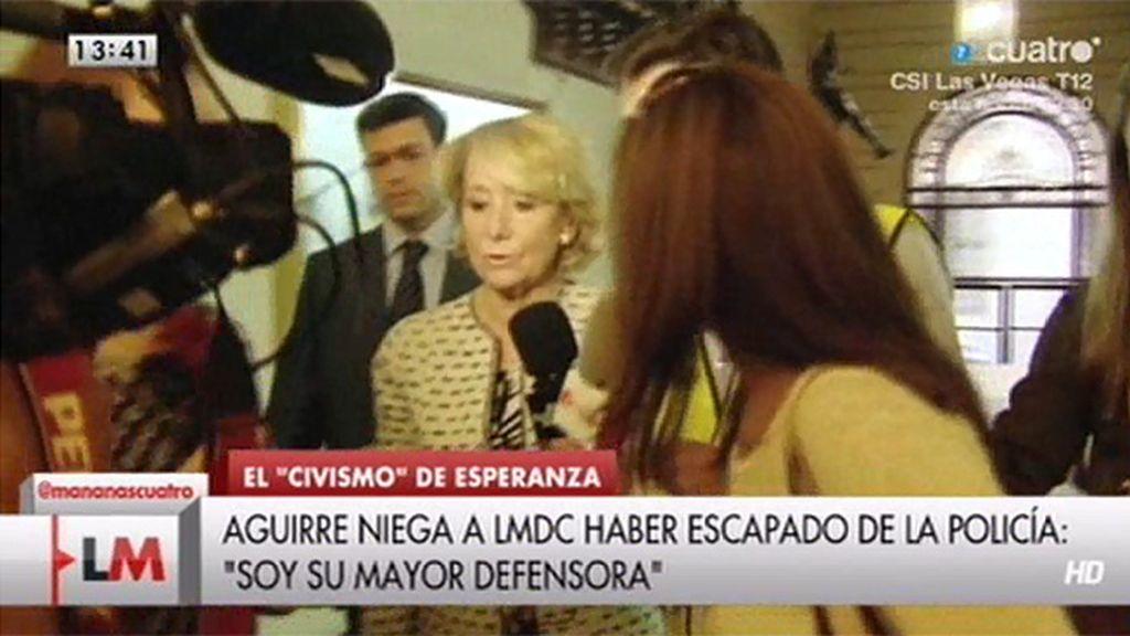 """Aguirre: """"No he escapado jamás de la policía"""""""