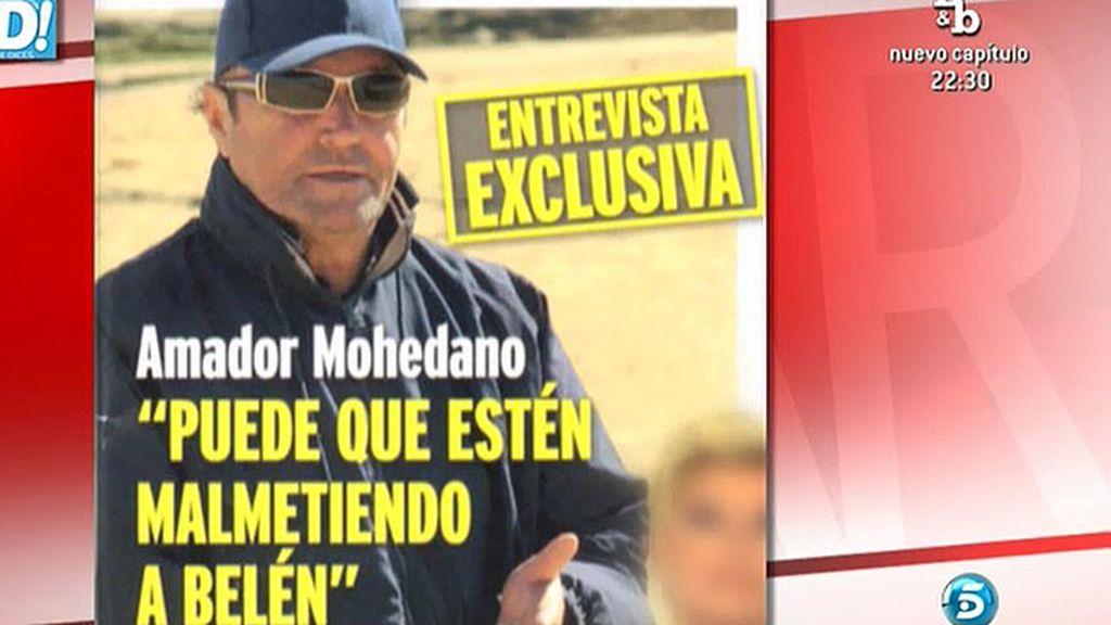 """Amador Mohedano: """"Estoy preocupado pero se va a quedar todo muy bien"""""""