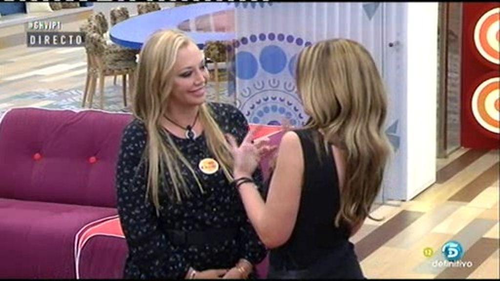 Así ha sido el primer encuentro entre Belén Esteban y Olvido Hormigos en 'GH VIP'