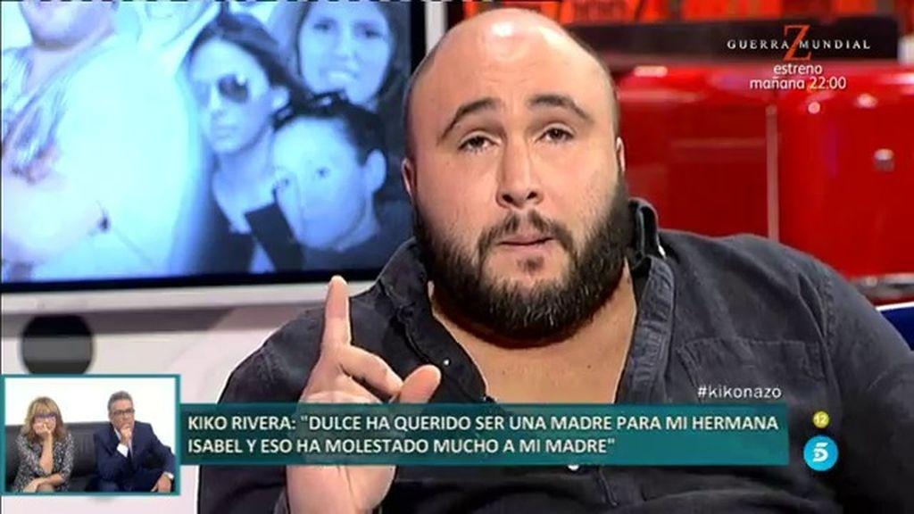 """Kiko Rivera: """"¿Quién se cree que es Dulce? Se ha extralimitado en sus funciones"""""""