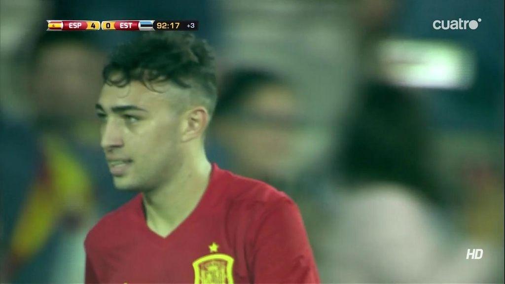 ¡Munir cerró el marcador haciendo el quinto! Buen 'pase de la muerte' de Gayá (5-0)