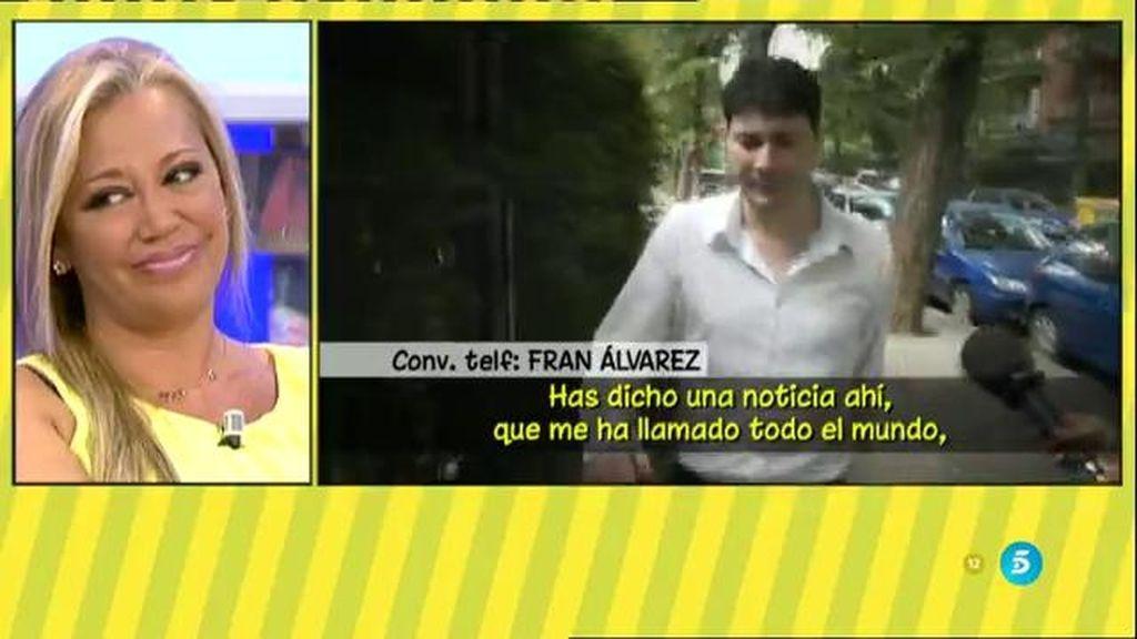 "Fran Álvarez: ""¿A mí qué me importa con quién esté Belén Esteban? Me da igual"""