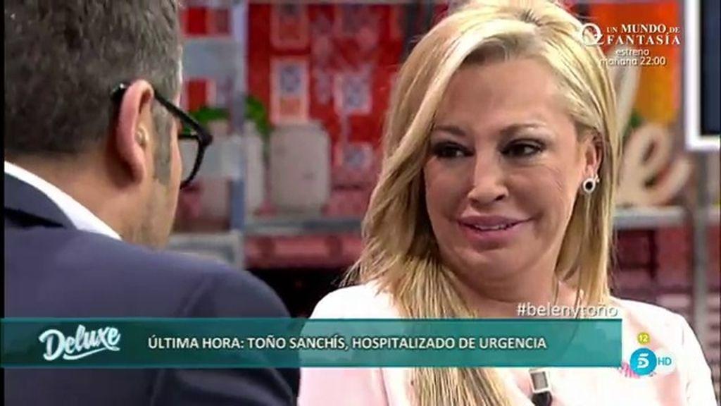 """Belén Esteban, de Toño Sanchís: """"Siento pena y me gustaría saber si ha sido por mí"""""""