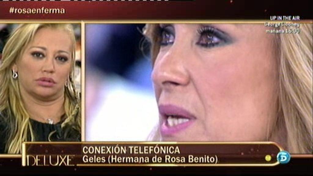 """Geles, hermana de Rosa Benito sobre su estado: """"Mi hermana está fatal"""""""