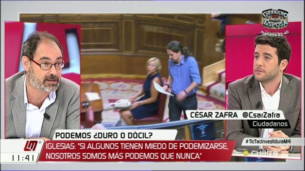 """César Zafra (C's): """"Nunca vamos a pactar con nacionalistas o independentistas"""""""