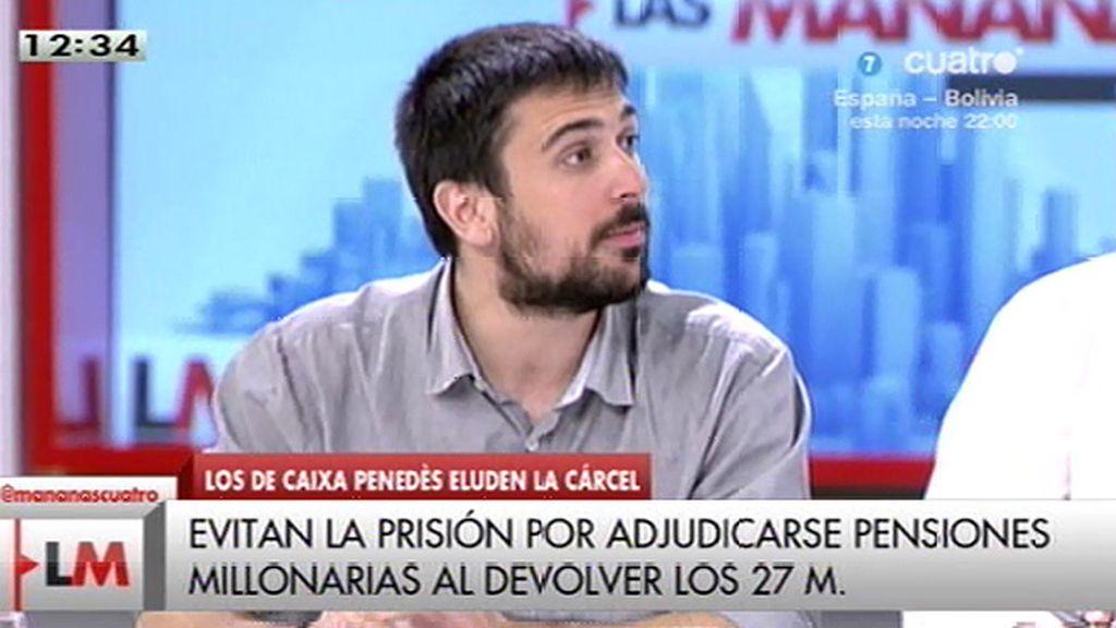 """Ramón Espinar: """"Que de Podemos se hable como un peligro es la representación de lo que tiene esta gentuza en la cabeza"""""""