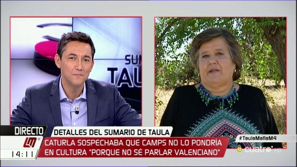 """Cristina Almeida, sobre el caso Taula: """"Cuando se tira de la manta, a veces uno también se cae"""""""