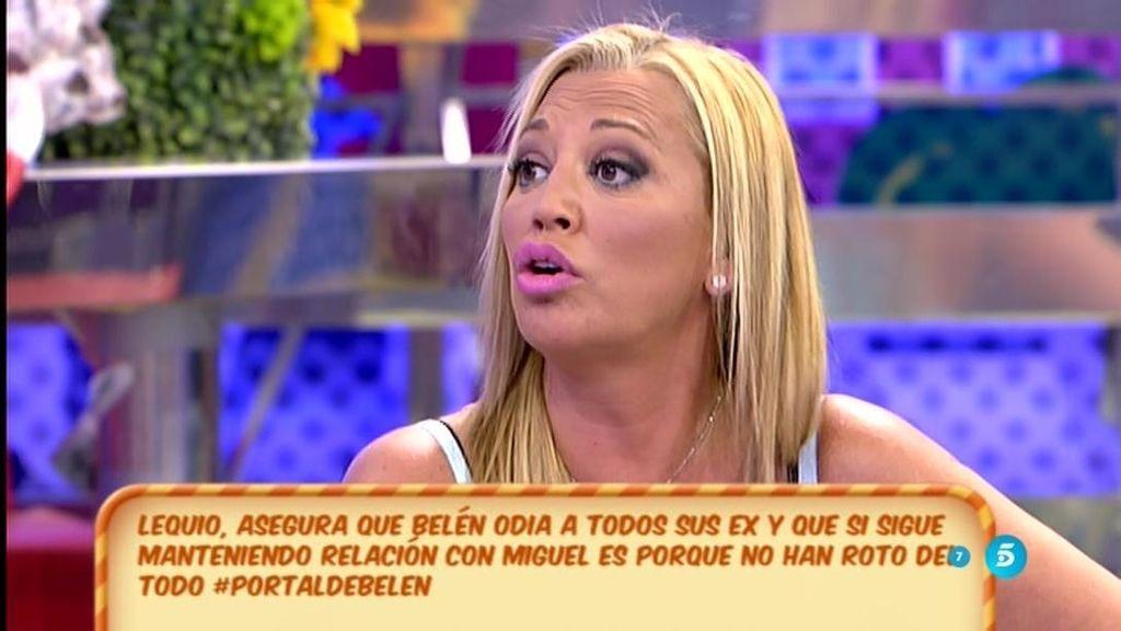 """Belén, a Lequio: """"Me llevo muy bien con algunos ex: Dani Dj, Óscar Lozano..."""""""