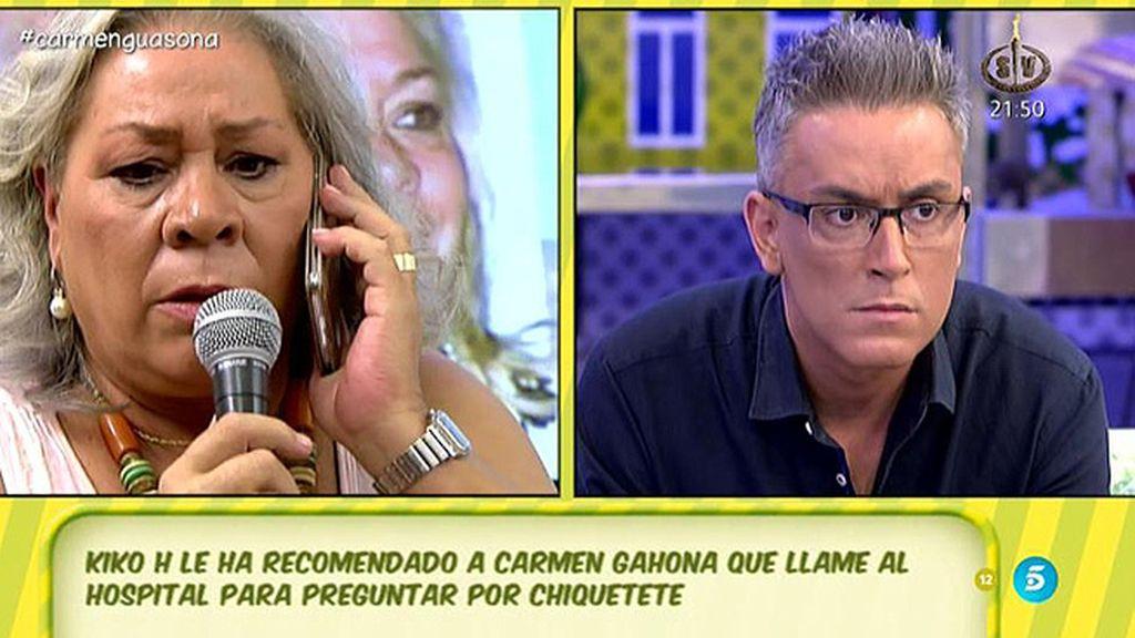 Carmen Gahona desmiente que Chiquetete este ingresado en la UCI