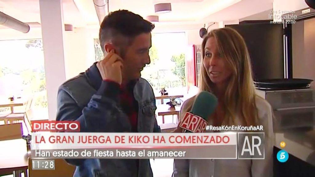 """Patricia, dueña del restaurante donde cenó Kiko: """"La despedida es muy light"""""""