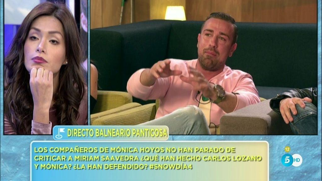 """Rafa Mora, a Miriam: """"No le he dicho a Carlos que has preguntado por mí dos y tres veces"""""""