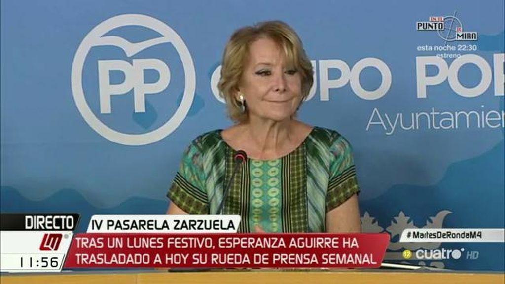 """Esperanza Aguirre: """"Ciudadanos tiene que entrar en el Gobierno"""""""
