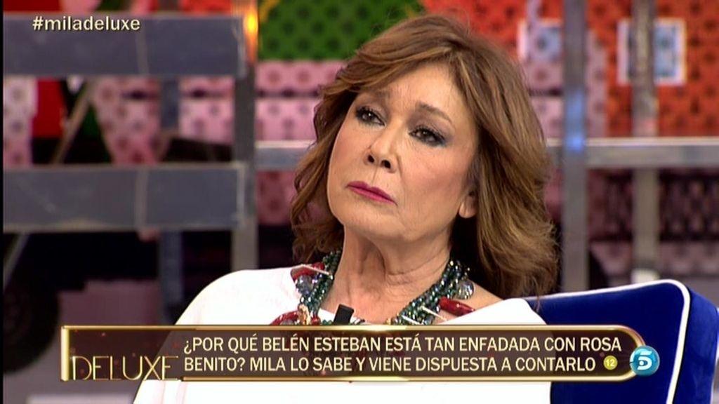 """Mila: """"Rosa me hizo partícipe de un comentario muy sucio de Belén Esteban"""""""