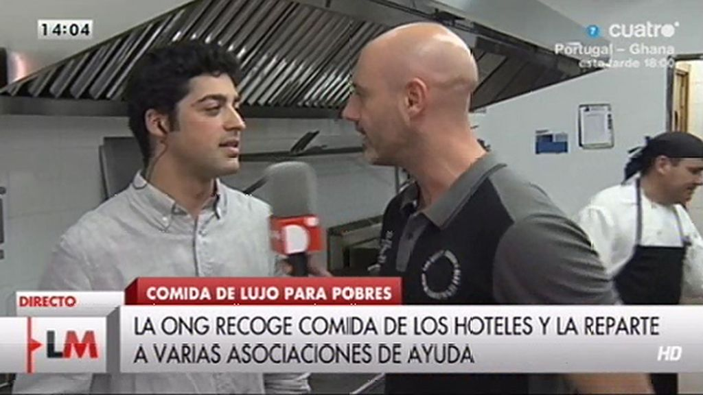 'Nutrición sin fronteras' recoge comida sobrante de hoteles para repartirla a quienes la necesitan