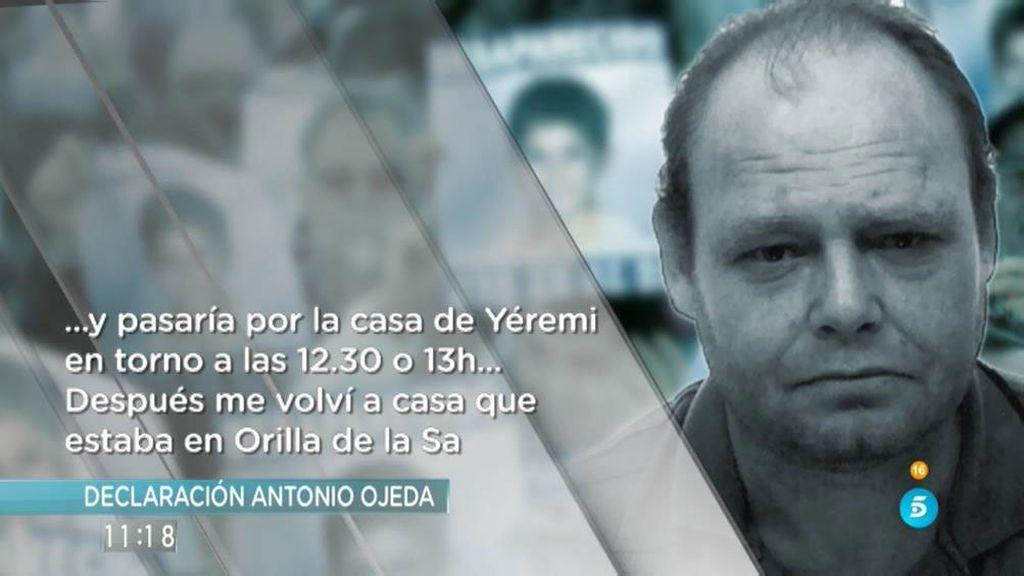 'AR' tiene acceso a la declaración de Antonio Ojeda, único imputado en el caso Yéremi