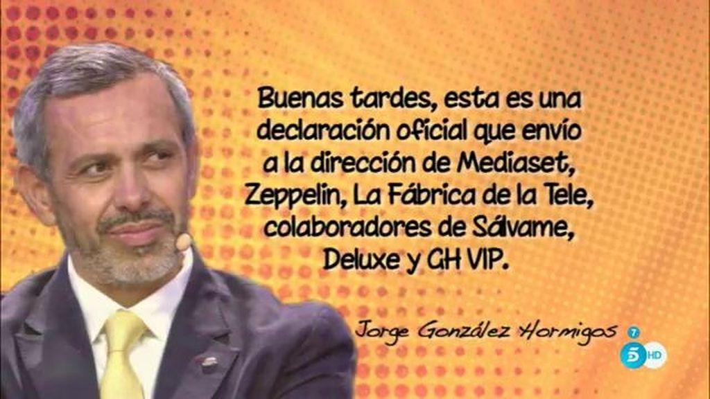 """Jorge González, de F. Nicolás: """"Renuncio libremente a defender a dicha persona"""""""
