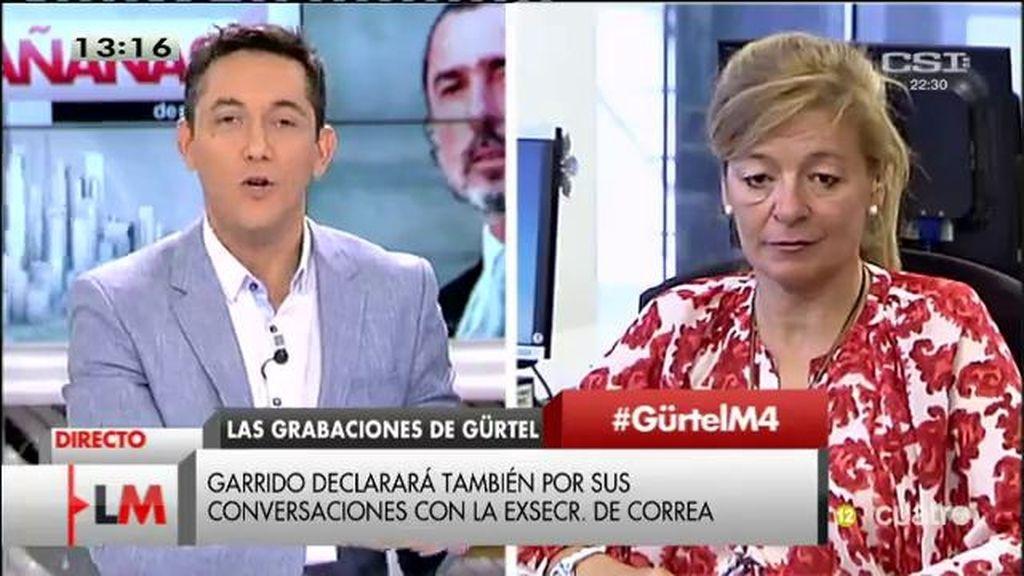 """Ana Garrido, sobre la Gürtel: """"Las amenazas han cesado desde el verano"""""""