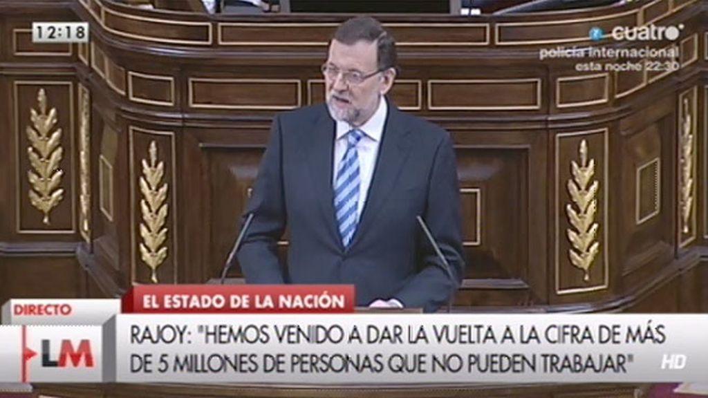 """Rajoy, al anterior gobierno: """"No se puede corregir lo que no se quiere reconocer"""""""