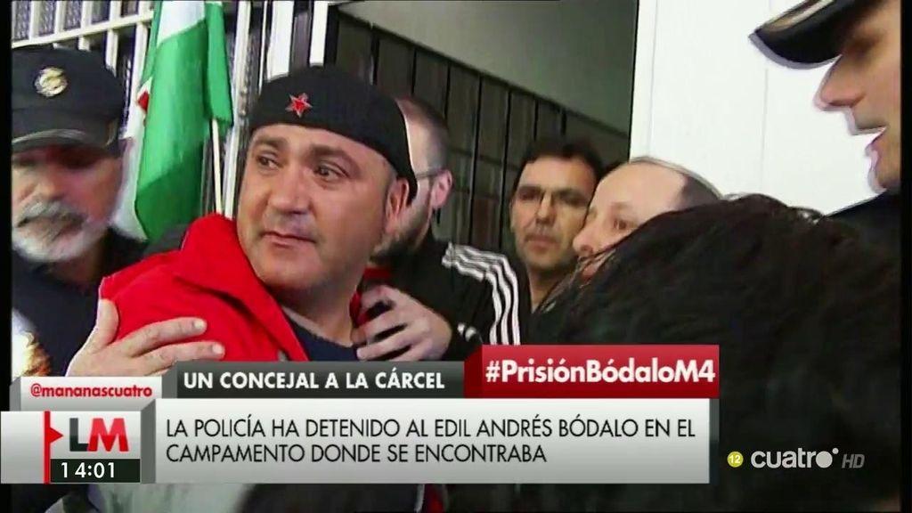 La policía detiene a Andrés Bódalo en el campamento donde se encontraba