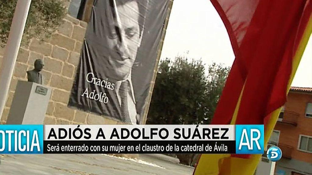 Los restos de Adolfo Suárez reposarán en la catedral de Ávila junto a los de su mujer