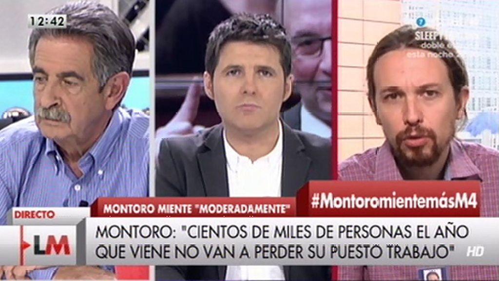 """Pablo Iglesias, tras las palabras de Montoro: """"No sé si esto responde al trabajo de los asesores o a simple locura"""""""
