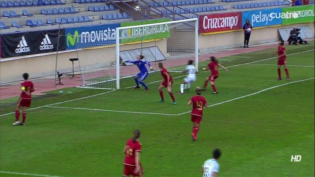 ¡Primer gol de Inglaterra! Abre el marcador Marta Torrejón en propia puerta (0-1)