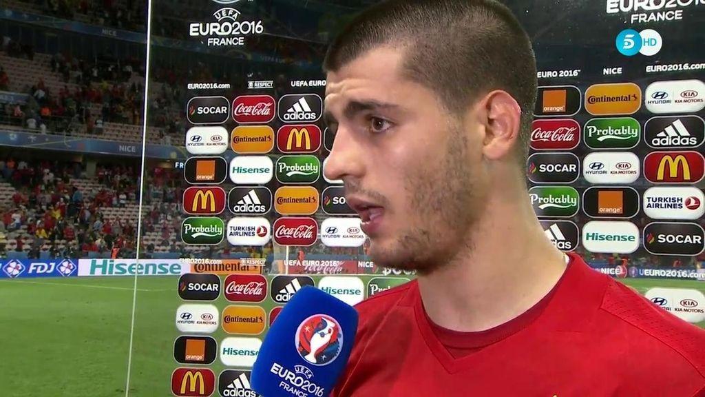 """Álvaro Morata: """"Hay un ambiente espectacular y eso se ve en el campo"""""""
