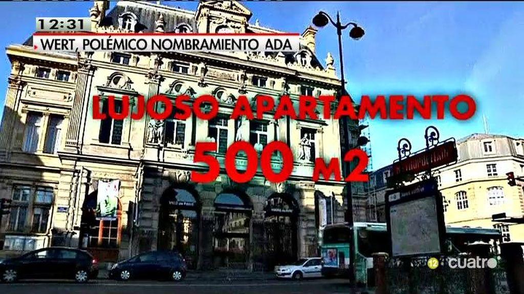 Casa de lujo, chófer y 10.000 euros mensuales, así es puesto de Wert en París