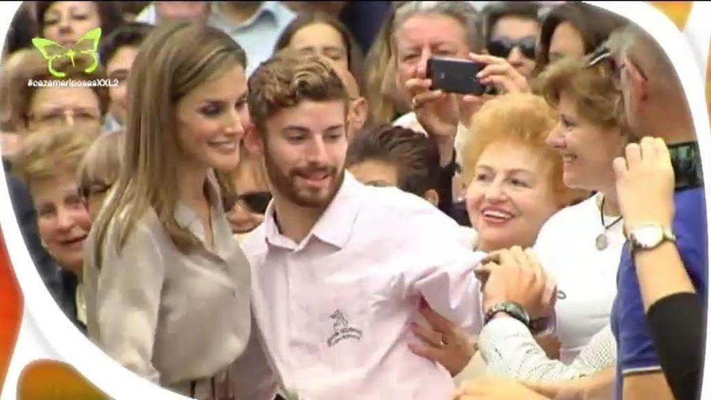 Los reyes Felipe y Letizia, aficionados a los selfies