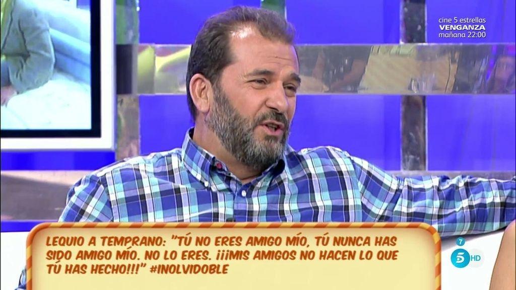 """Temprano, de la supuesta historia entre Olvido y Lequio: """"Ya lo comentó en su momento"""""""