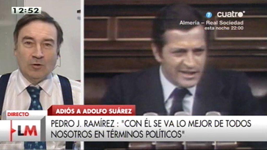 """Pedro J., sobre Suárez: """"Tenía pánico escénico, lo compensaba con magnetismo"""""""