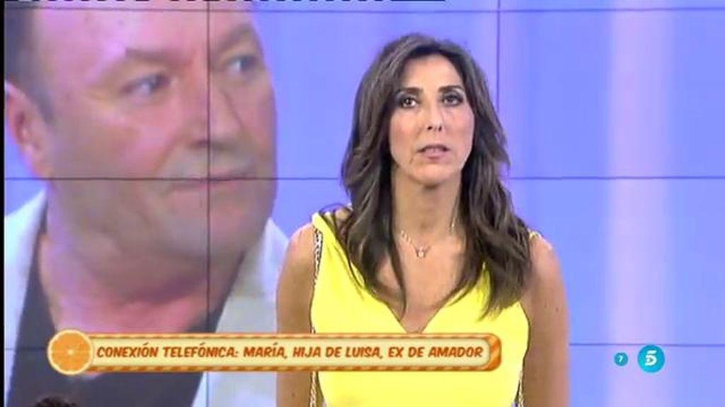 """María, hija de la primera novia de Amador Mohedano: """"Mi madre no está despechada"""""""