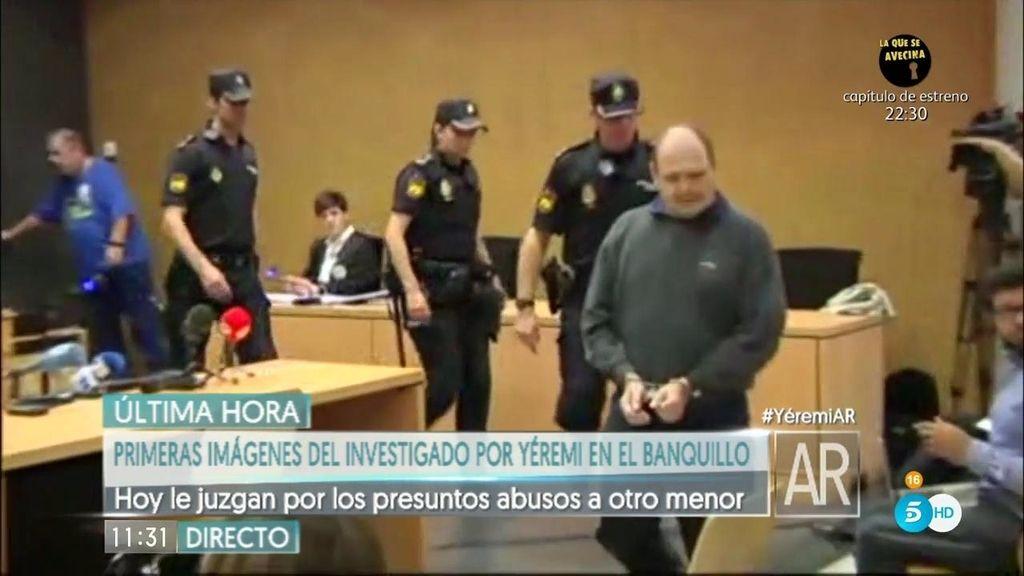 Primeras imágenes de 'el Rubio' en el juicio por presuntos abusos a otro menor