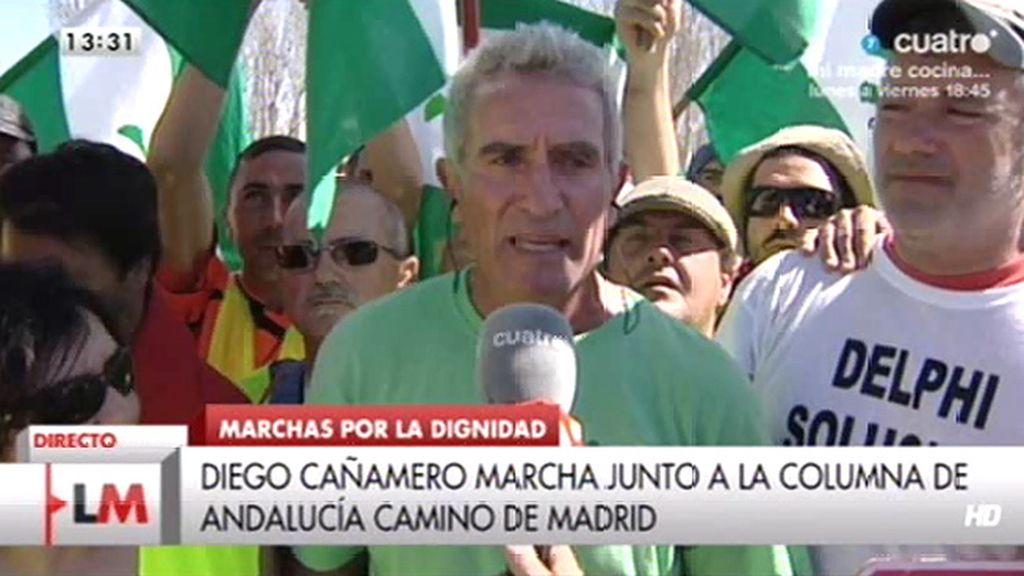 """Diego Cañamero: """"El Gobierno está hincando el cuchillo en el corazón y el alma del pueblo"""""""