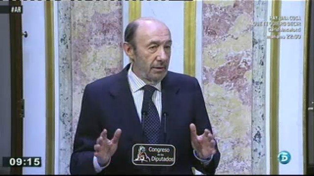 """Rubalcaba: """"Para llevar a cabo la propuesta de Madina hay que encontrar un consenso en el PSOE"""""""