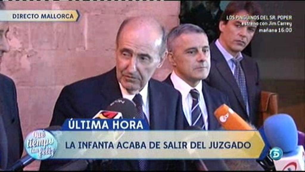 """Roca, sobre la Infanta: """"Demuestra que la justicia es igual para todos"""""""