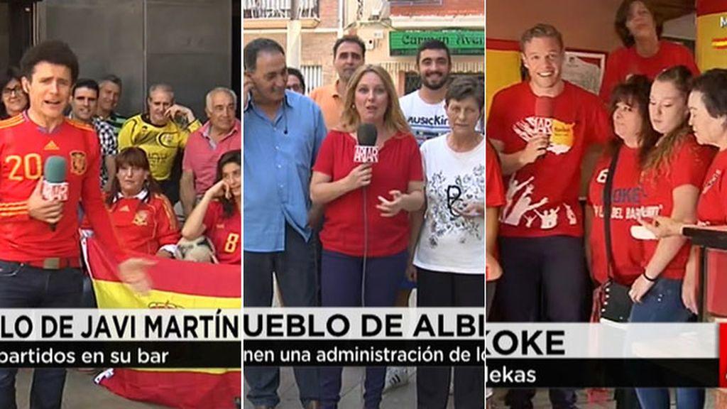 Las familias de Javi Martínez, Albiol y Koke, preparadas para el debut de 'La Roja'