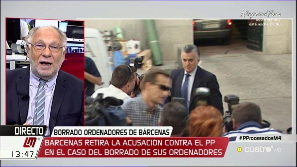 "Ernesto Ekaizer: ""Evidentemente, Bárcenas tiene grandes expectativas"""