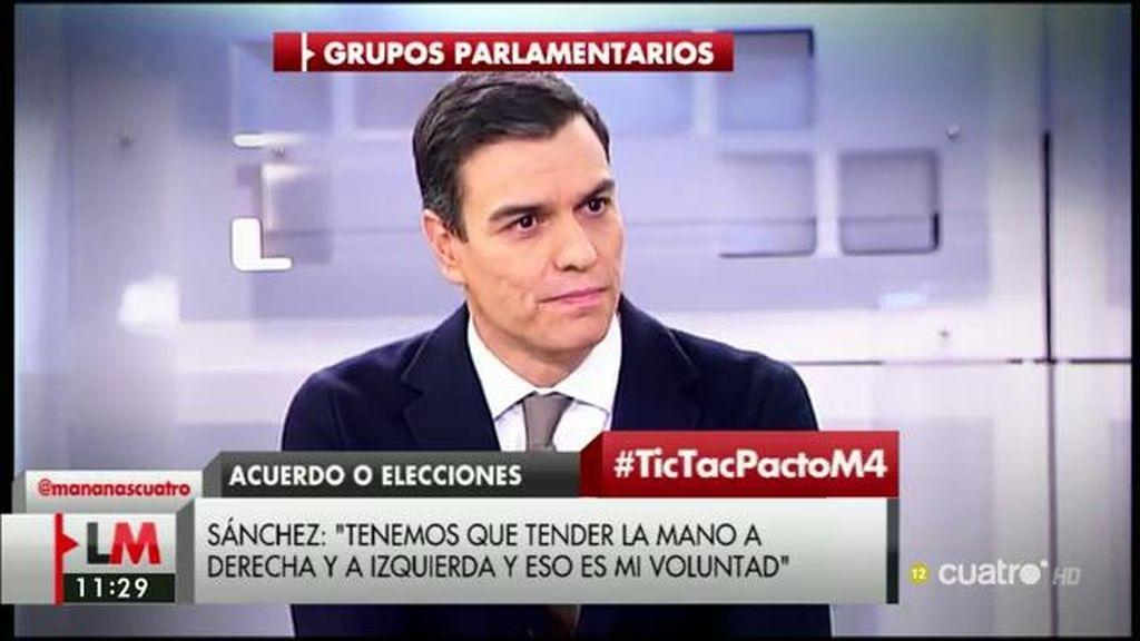 """Pedro Sánchez: """"He visto mucha disposición a evitar unas elecciones"""""""