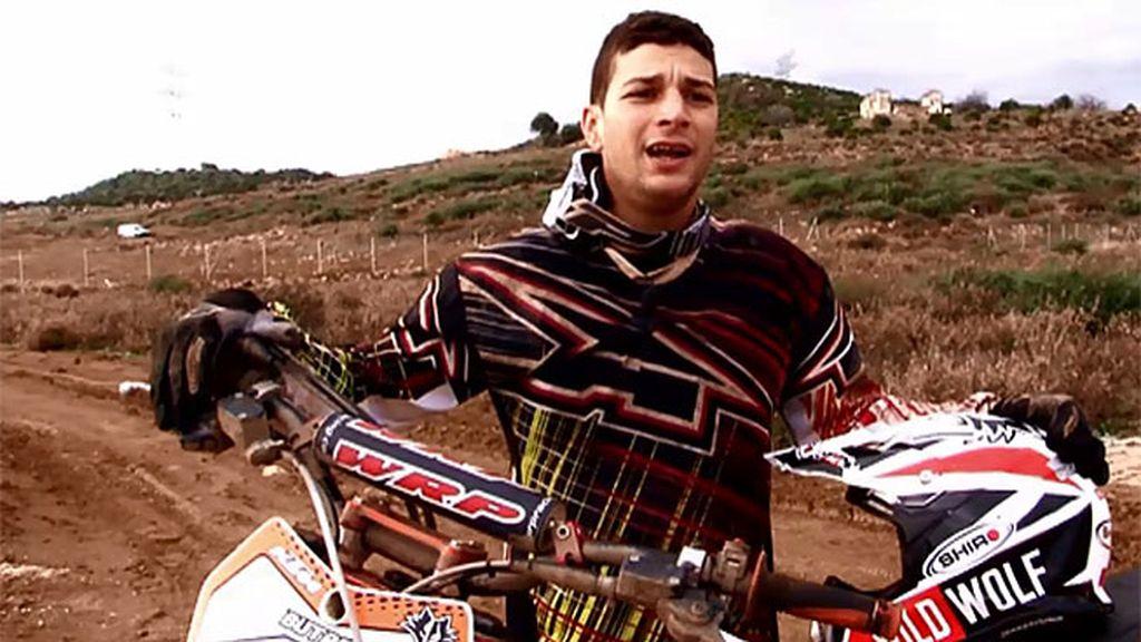 Butrón, campeón de España de motocross, visita el Circuito Costa del Sol Casares