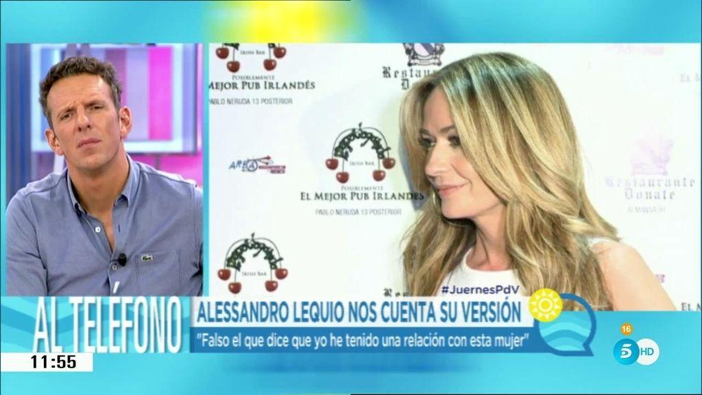 """Alessandro Lequio, sobre Olvido Hormigos: """"La historia que cuenta esta señora es falsa"""""""