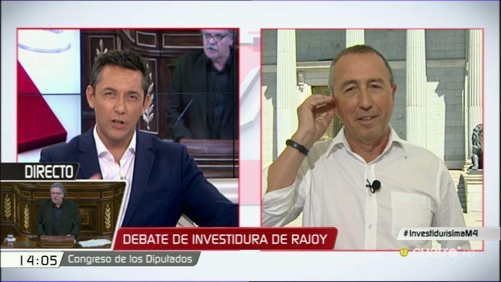 """Baldoví: """"Si Rajoy fracasa, los que hemos votado que no tendremos que hacer algo"""""""