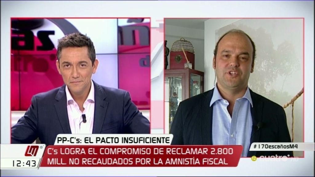 """José Carlos: """"El pacto del PP y Ciudadanos va a durar menos que los yogures de Cañete"""""""