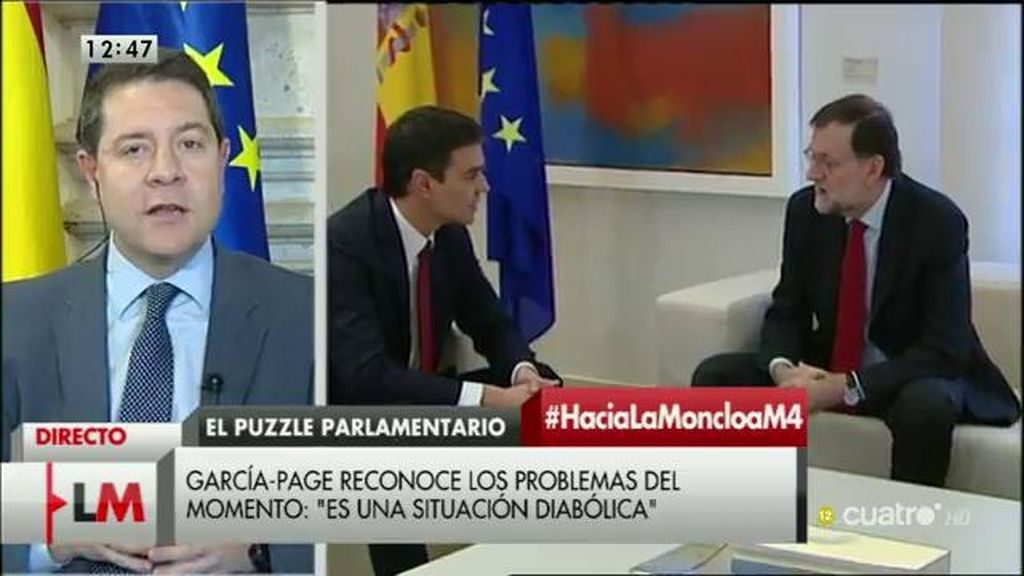 La entrevista a García-Page, a la carta