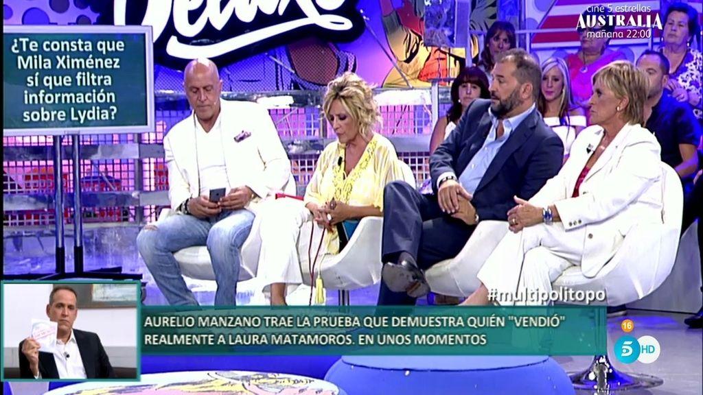 """Miguel Temprano: """"Mila Ximénez ha filtrado información de Lydia con maldad"""""""