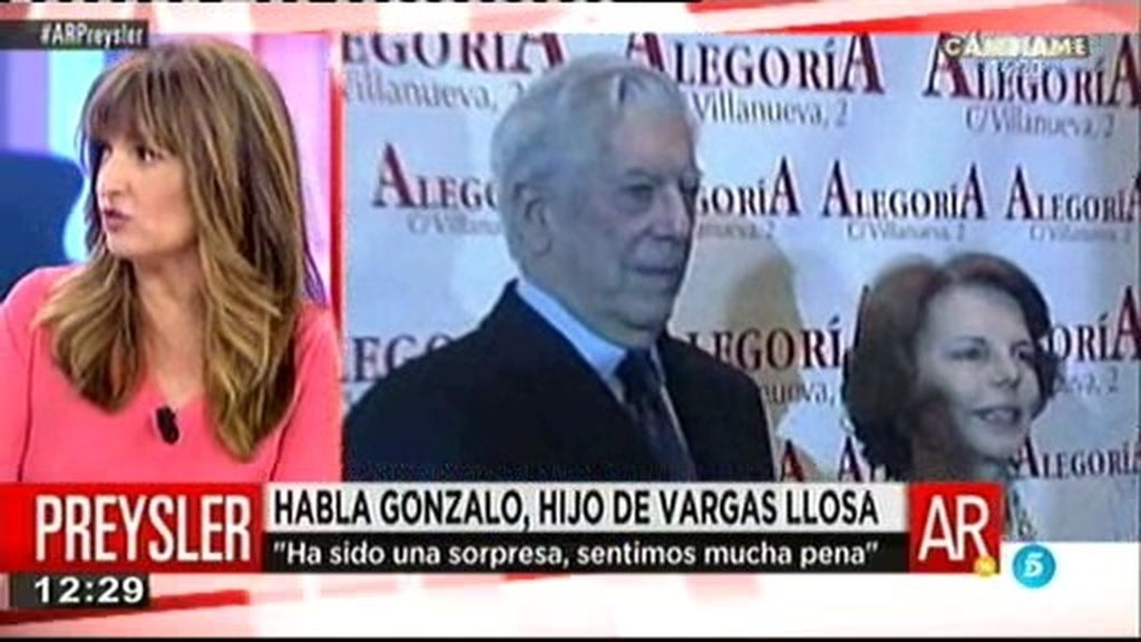 "Gonzalo Vargas Llosa: ""Ha sido una sorpresa, sentimos mucha pena"""