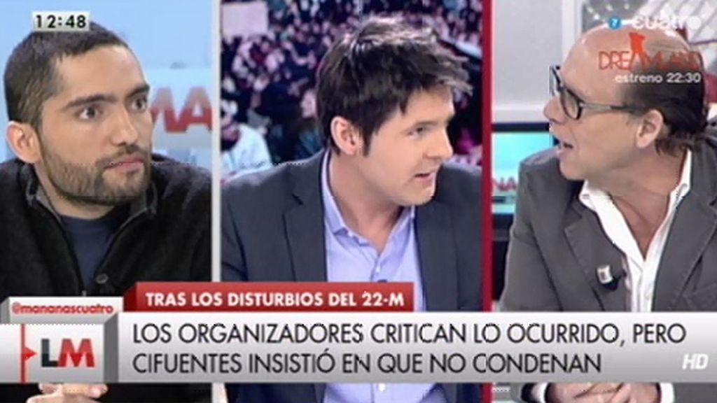 """Cintora, a Jaime González: """"Si mientes, mi deber es demostrar que mientes"""""""