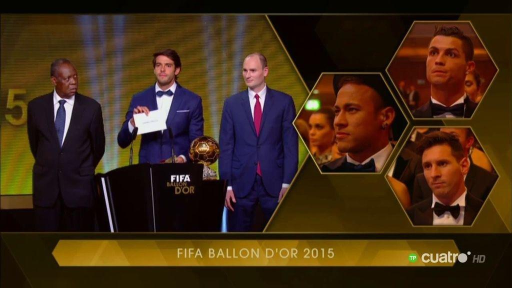 """El gesto deportivo de CR7 al escuchar: """"El ganador del Balón de Oro es... ¡Leo Messi!"""