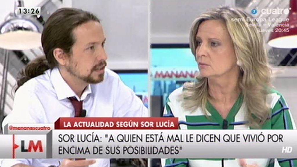 Isabel San Sebastián cree sor Lucía Caram debería ir en las listas con Pablo Iglesias