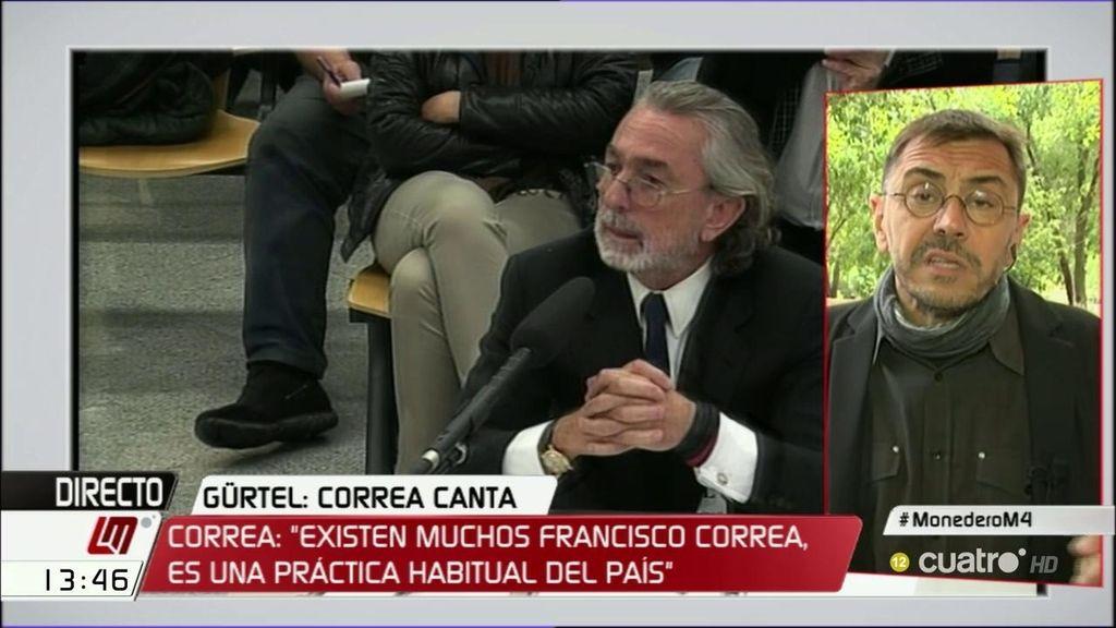 """Monedero: """"El PP está actuando como un partido postfranquista"""""""
